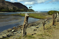 Halawa Bay Hawaii. The beautiful Halawa Bay. Molokai Hawaii stock images