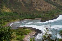 Halawa Beach on Molokai Island. The crescent saped Halawa Beach on Molokai Island, Hawaii Stock Photo