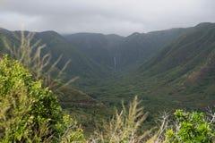 Halawa dolina na Molokai Zdjęcia Royalty Free