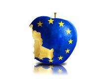 halb aufgegessener Europa-Apfel Lizenzfreie Stockfotografie