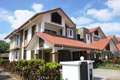 Halb Einzelhaus Stockfoto