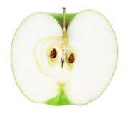 Halb grüner Apfel lizenzfreie stockfotos