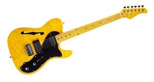 Halb-Hohle Gitarre Stockfotografie