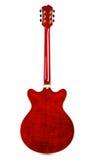 Halb-hohle Gitarren-Rückseite stockfotos