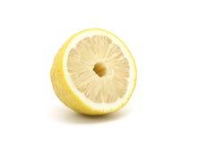 Halb japanische Zitrone getrennt auf weißem Hintergrund Lizenzfreies Stockfoto