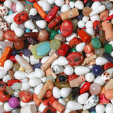 Halb kostbare Steine Stockfoto