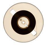 Halb leere Spule des Magnetbands für Tonaufzeichnungen Stockbilder