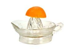 Halb orange Stockfoto