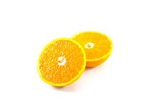 Halb orange Frucht frisch und saftig Stockbild