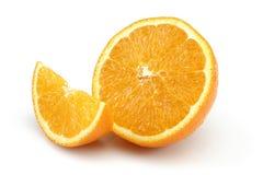 Halb orange und orange Scheibe stockfotos