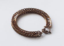 Halb Perser Chainmail-Armband-Bronze Stockfoto