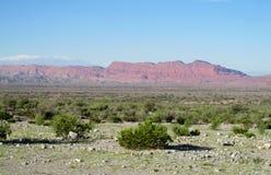 Halb-Wüstenberglandschaft Stockfoto