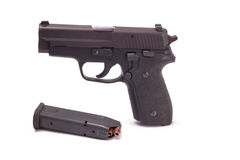 Halbautomatische Pistole Stockfoto