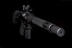 Halbautomatisches Gewehr des Angriffs Stockfotografie
