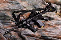 Halbautomatisches Gewehr M-4 Stockbilder