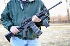 Halbautomatisches Gewehr M-4 Lizenzfreies Stockfoto
