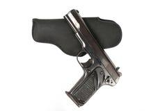 Halbautomatisches 9mm Gewehr lokalisiert auf weißem Hintergrund Lizenzfreies Stockbild