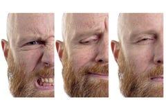 Halbe Gesichter der Gefühle Stockbilder