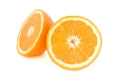 Halbe Orange zwei Stockbild