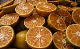 Halbe Orangen Lizenzfreies Stockbild