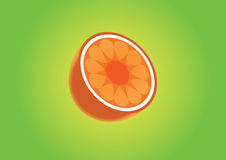 Halbe Scheibe der Orange Stockbilder