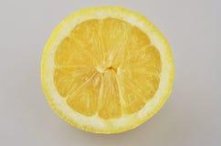 Halbe Zitrone stockbild
