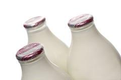 Halbentrahmte Milch Stockfoto