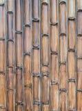 Halber Bambuswandhintergrund Stockfotos