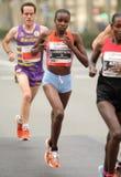Halber Langstreckenläufer Josephine Chepkoech des Kenyan lizenzfreie stockfotos