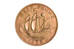 Halber Penny 1952 Stockbilder