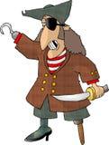 Halber Pirat Stockbild