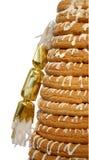 Halber Ring-Kuchen u. Cracker Lizenzfreie Stockbilder