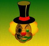 Halber Schädel des halben Clowns Stockfotografie