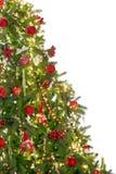 Halber Weihnachtsbaum Stockfotos
