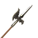 Halberd  isolated on a white background Royalty Free Stock Photography
