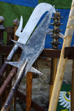 Halberd medieval weapons Royalty Free Stock Photo