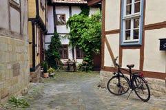 Halberstadt Sachsen Anhalt, Tyskland Arkivbilder