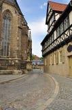 Halberstadt Sachsen Anhalt, Tyskland Royaltyfria Foton