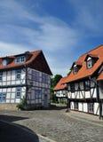 Halberstadt Sachsen Anhalt, Tyskland Arkivfoton