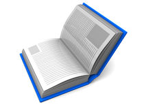 Halbes geöffnetes Buch Stockbild