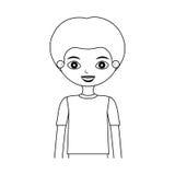 Halbes Körperkinderschattenbild mit T-Shirt Stockbild