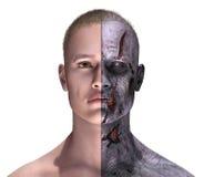 Halbes lebendiges - halber Zombie Lizenzfreie Stockfotografie