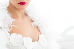 Halbes Porträt der schönen Braut Lizenzfreies Stockbild