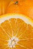 Halbierte Orange Stockbild