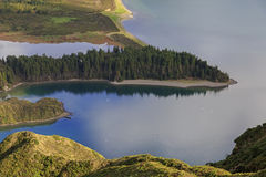 Halbinsel auf Lagoa tun Fogo, San Miguel Insel Lizenzfreies Stockbild