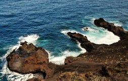 Halbinsel, die Buchten bildet Stockbilder