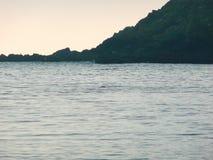 Halbinsel im Meer Stockbild