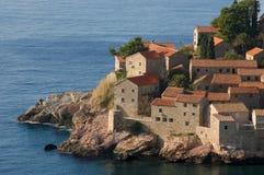 Halbinsel-Str. Stefan, adriatisches Meer, Montenegro Lizenzfreie Stockfotos
