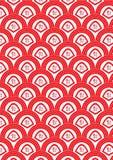 Halbkreis-rotes Vermögens-nahtloses Muster Stockfotografie