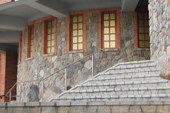 Halbkreisförmige Wand des Fensters Lizenzfreies Stockfoto